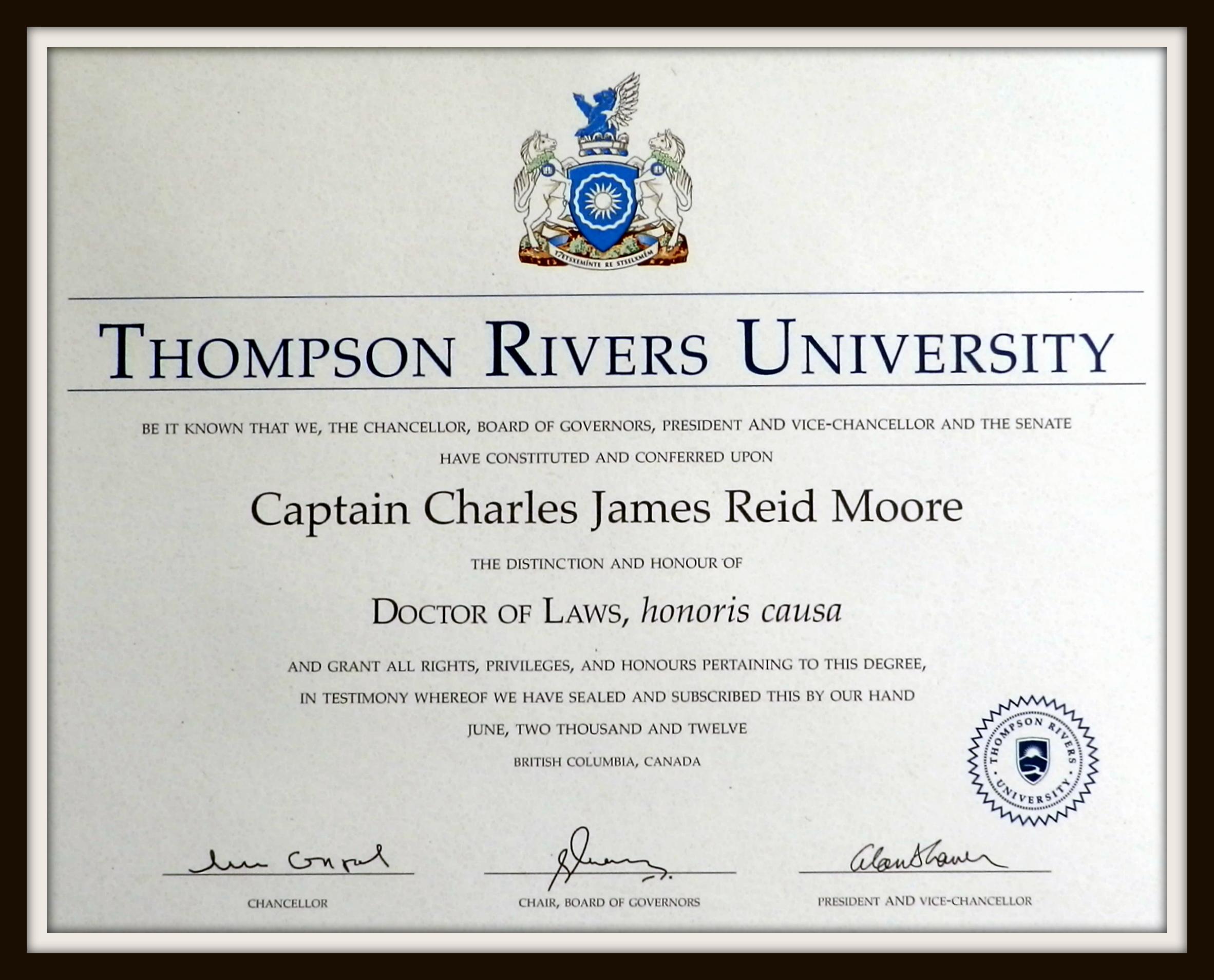 2012 Honorary Doctorate