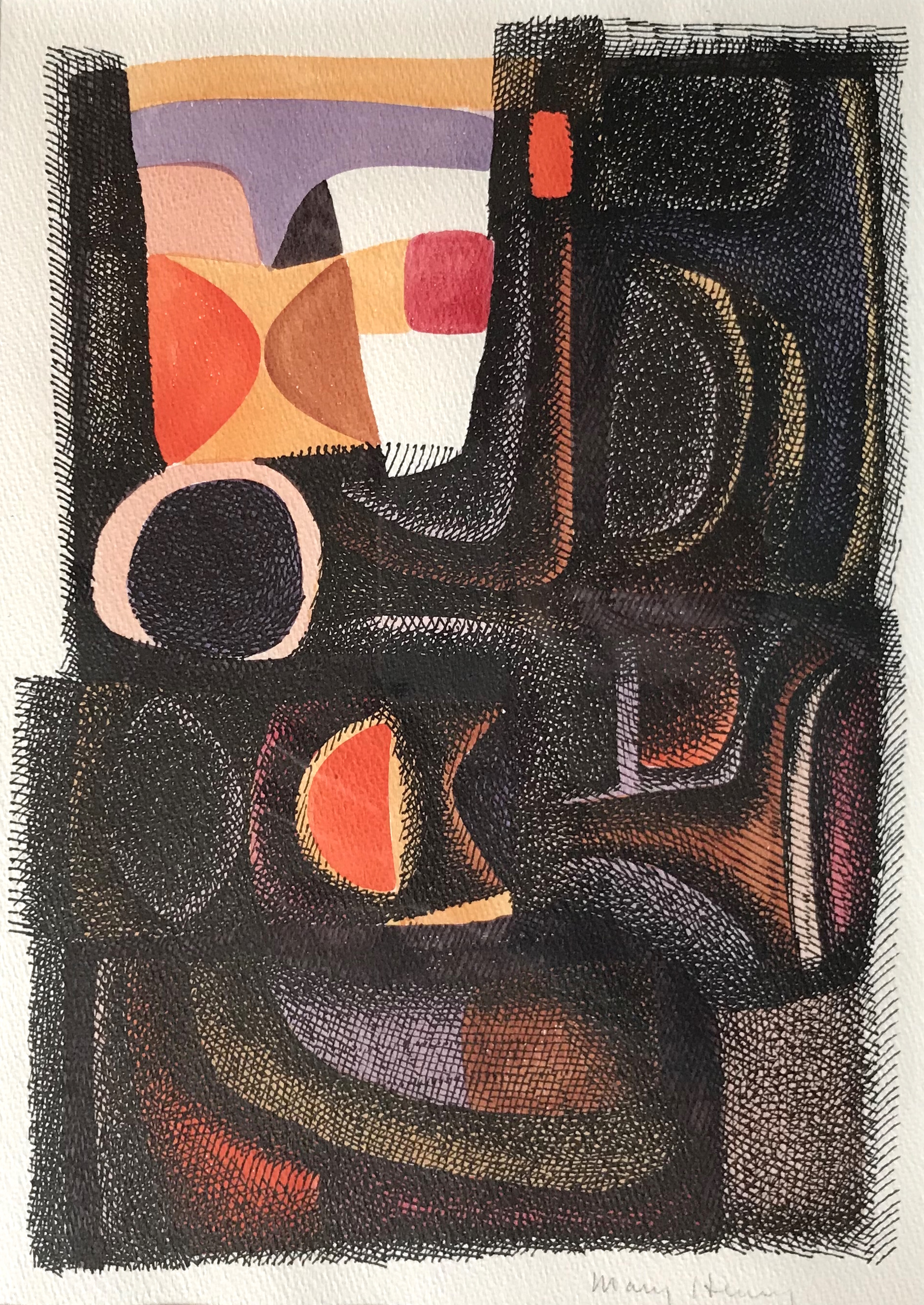 Untitled (orange-black)