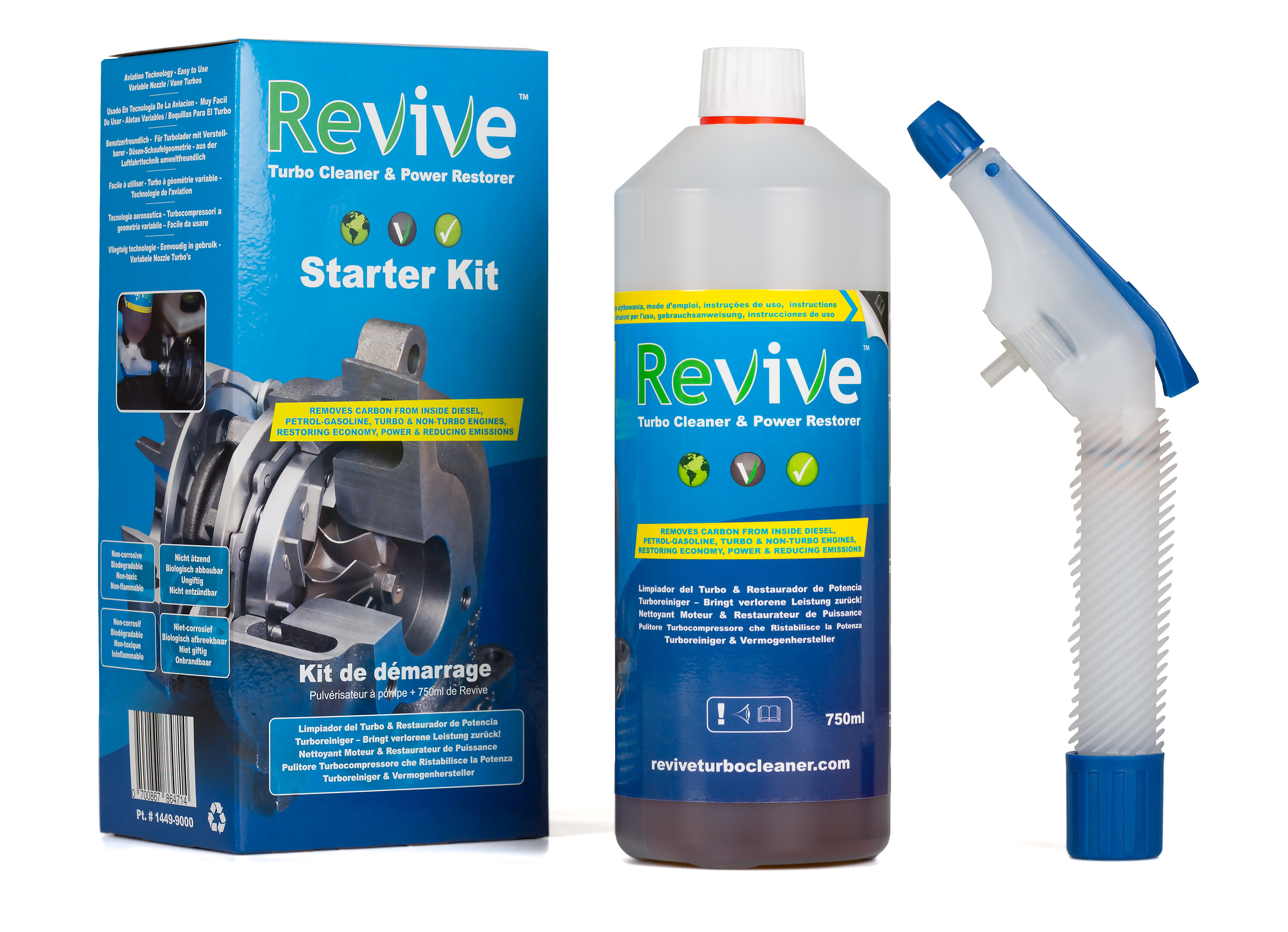 Revive Turbo Cleaner Starter Kit for engines up to 5.0 Liters Capacity