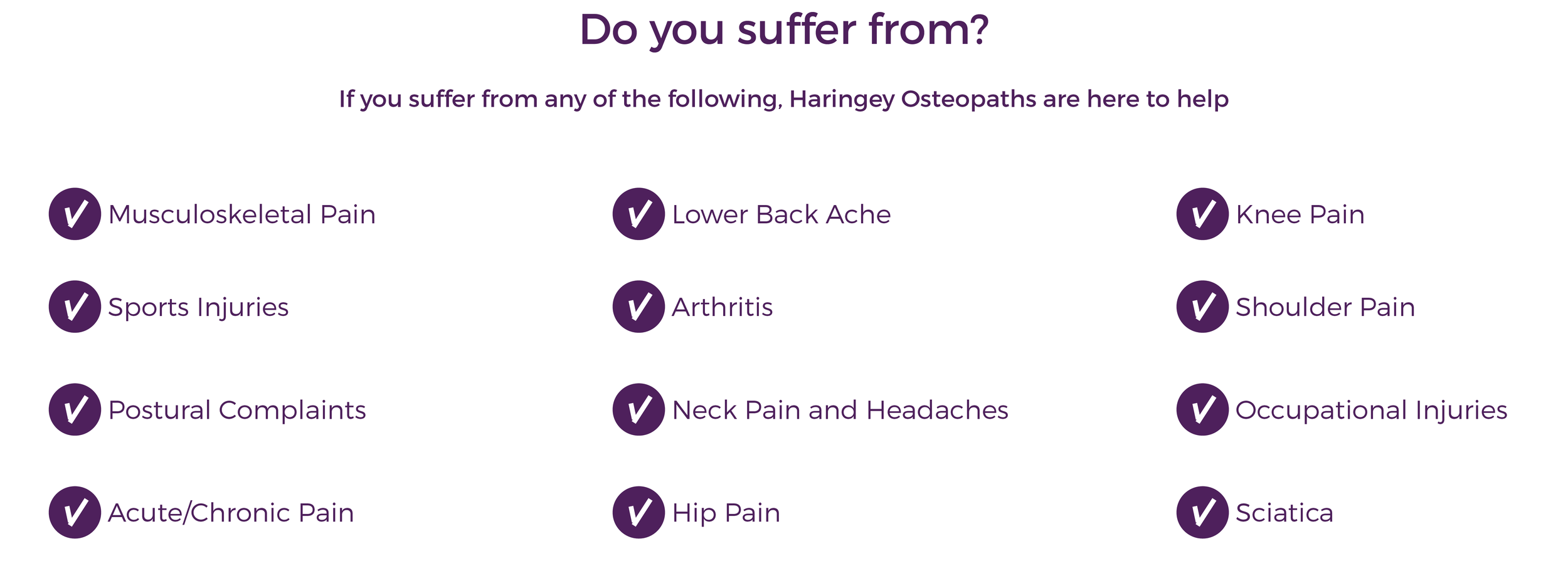 Haringey osteopaths crouch end muswell hill highgate back pain north london