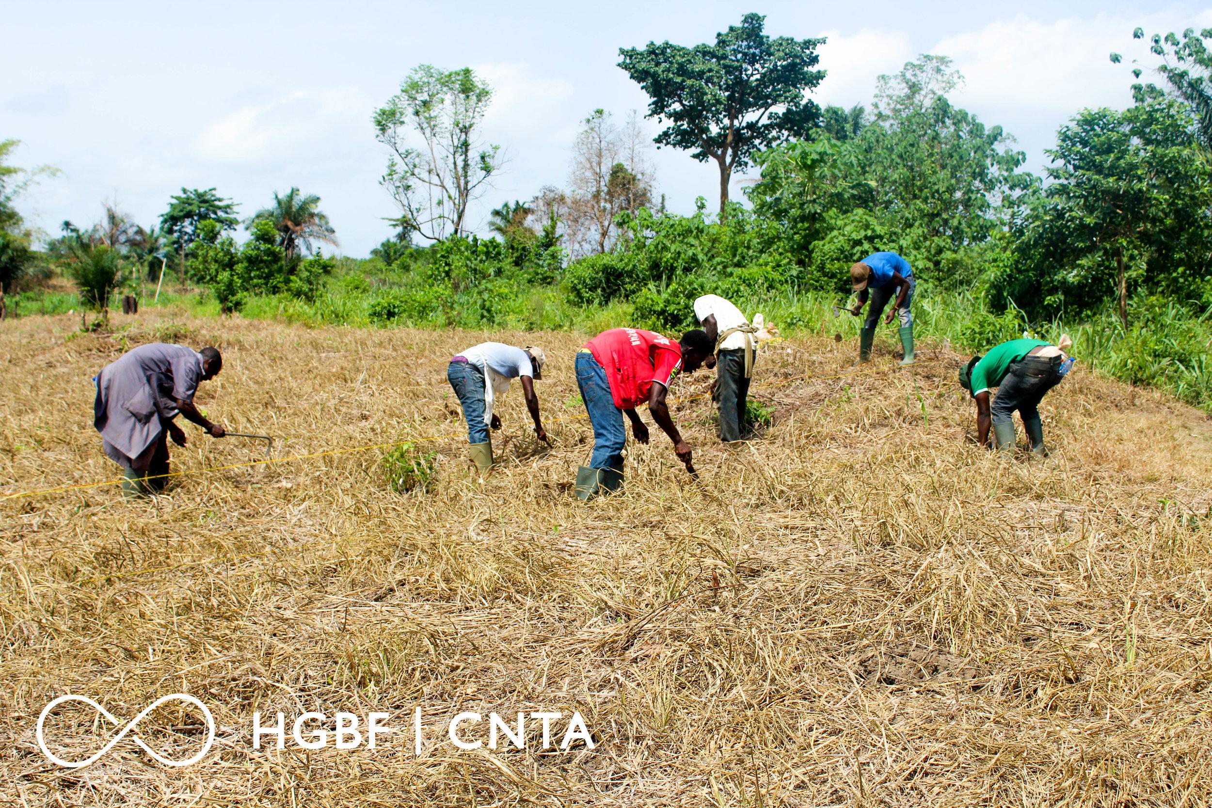 TEAM HGBF|CNTA ASSISTING A FARMER