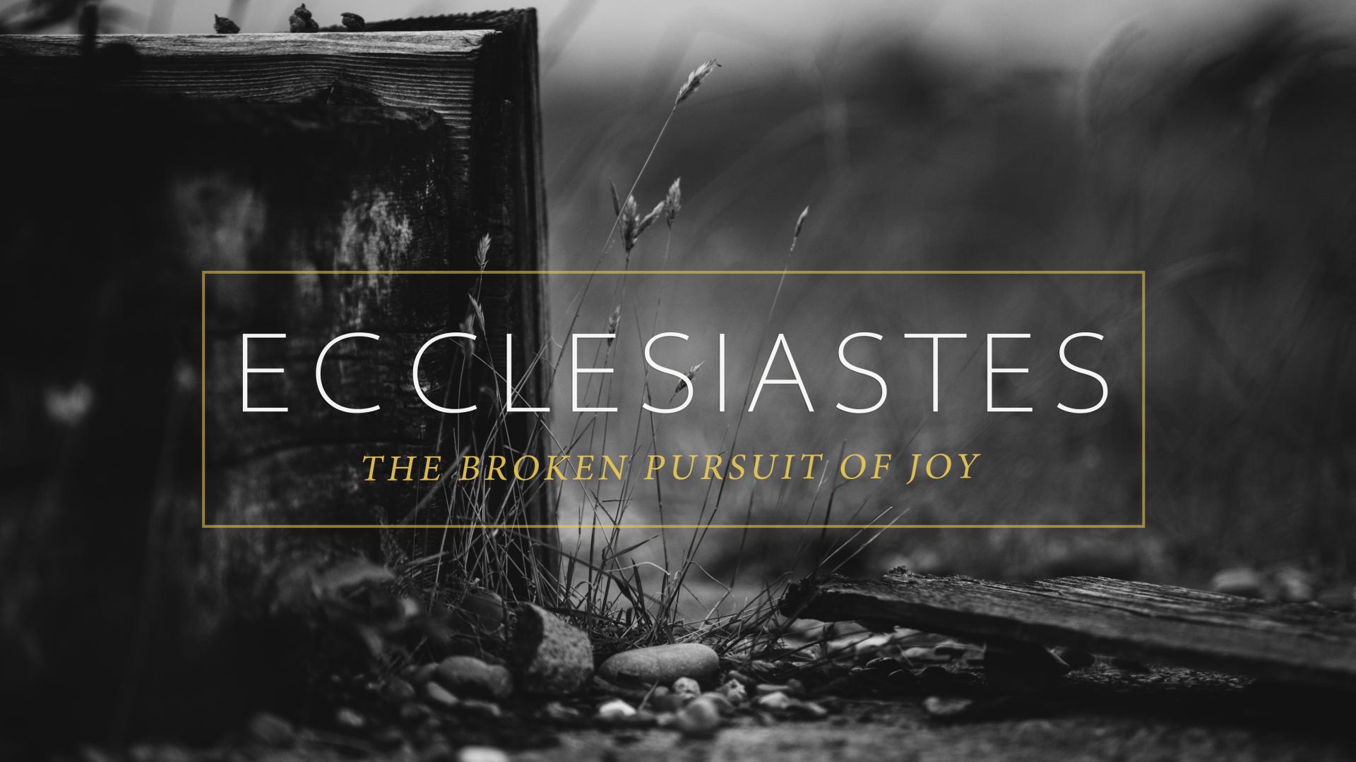 Ecclesiastes: The Broken Pursuit of Joy (2017)