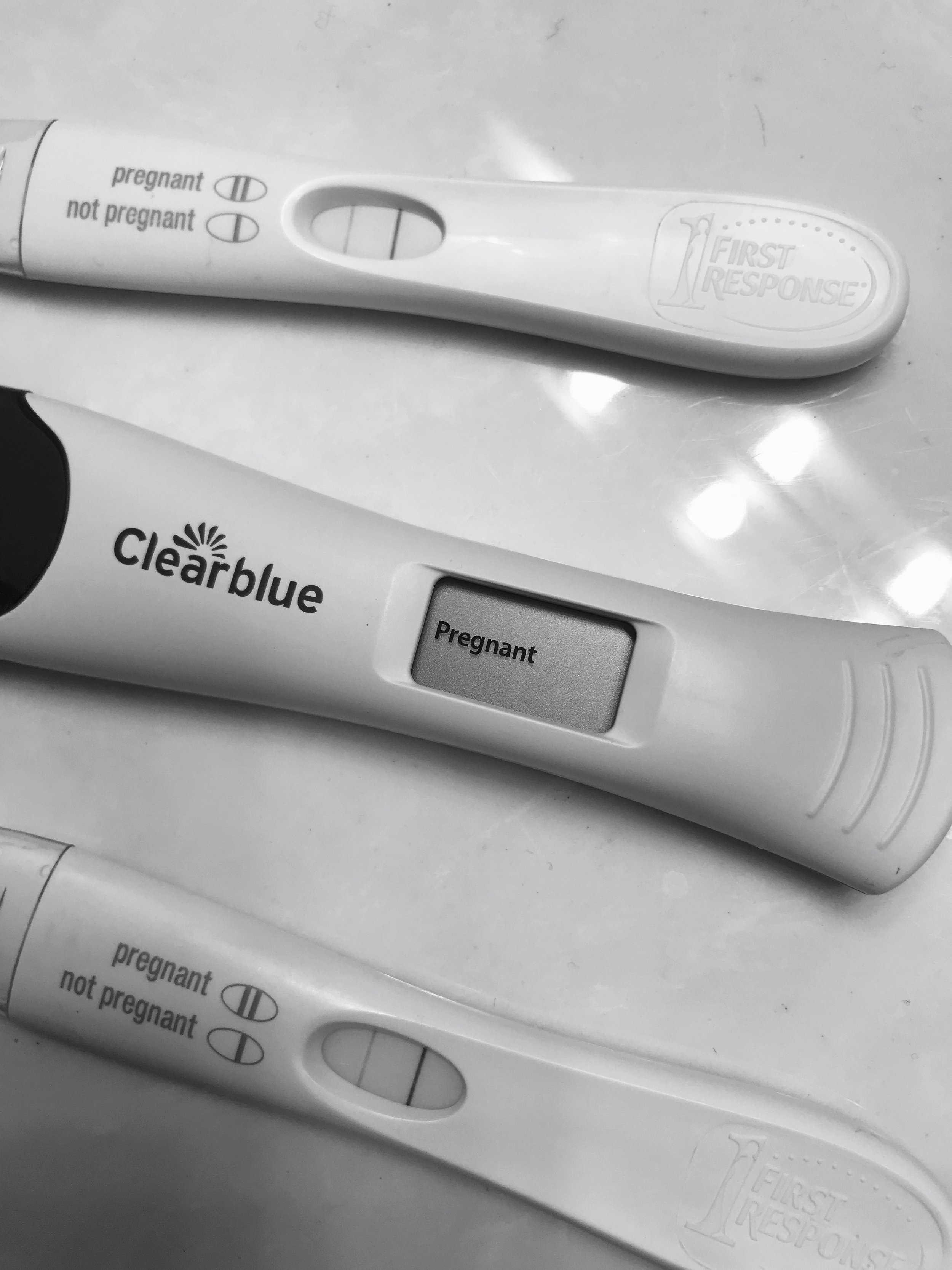 3 positive pregnancy test! We were SO excited!