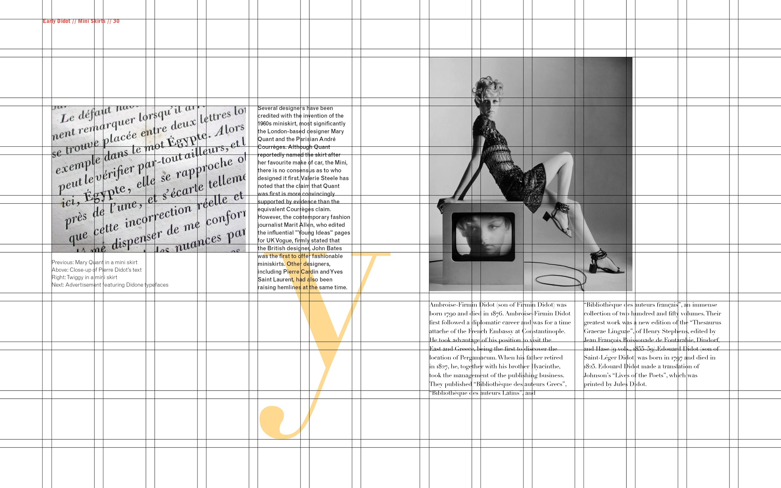 Mod & Didot Spread with Grid