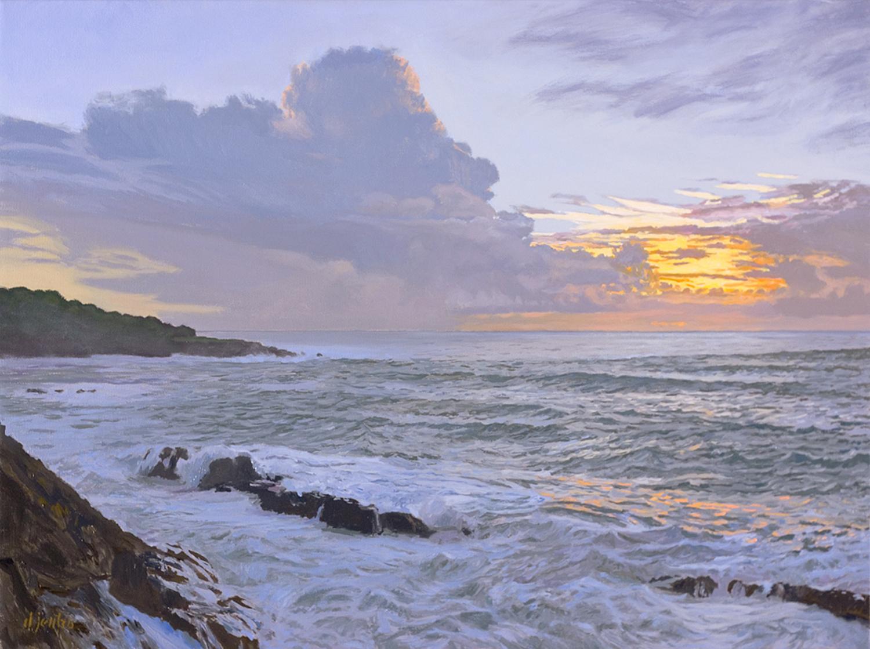 Sundown Over Mendocino Bay