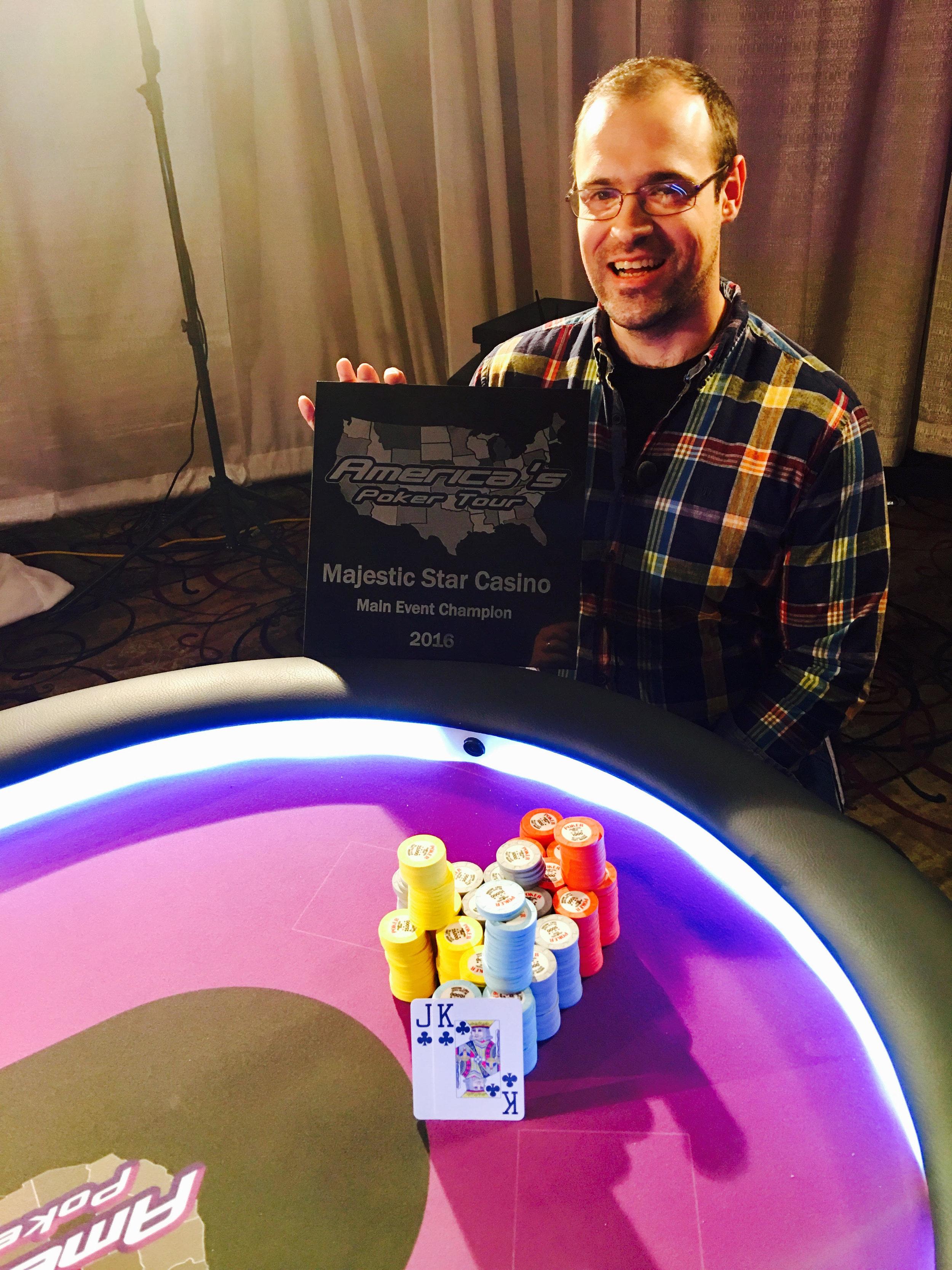 Majestic Star Casino Champion Alex Ziskin