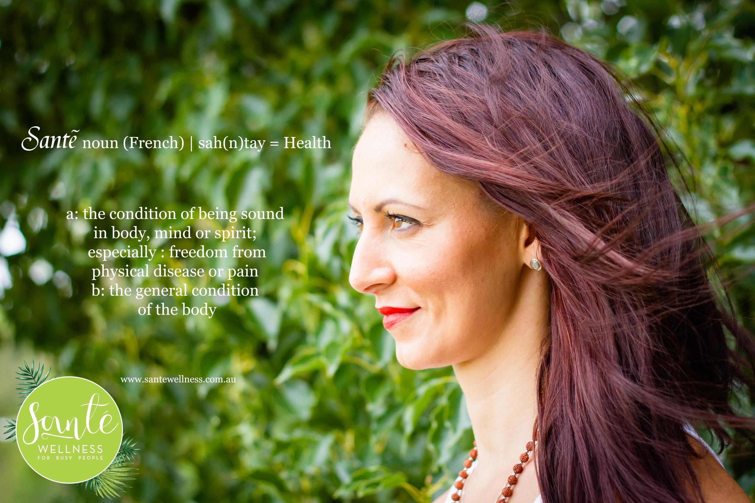 Sante Wellness Brisbane Gold Coast Online Naturopath Zsuzsanna Sipos