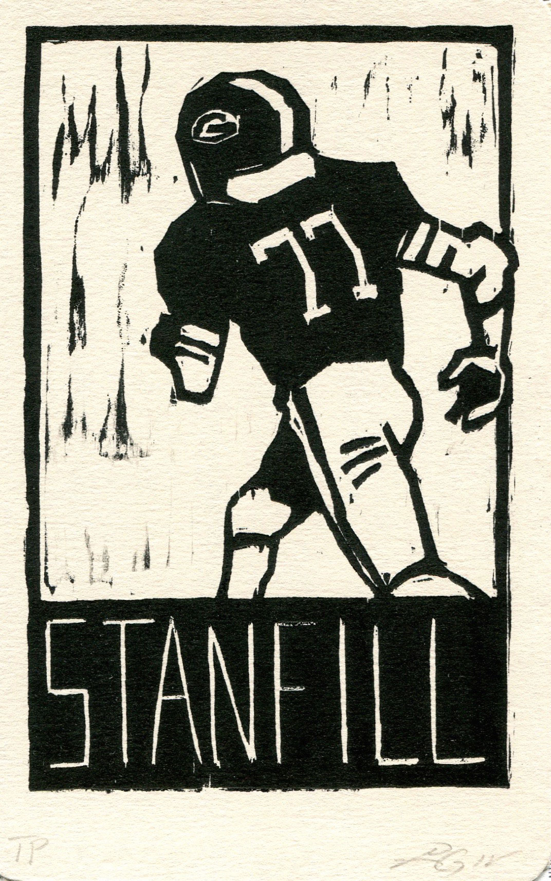 "Stanfill, Heroes of the Southland 2016, 3.75""x5.75"""