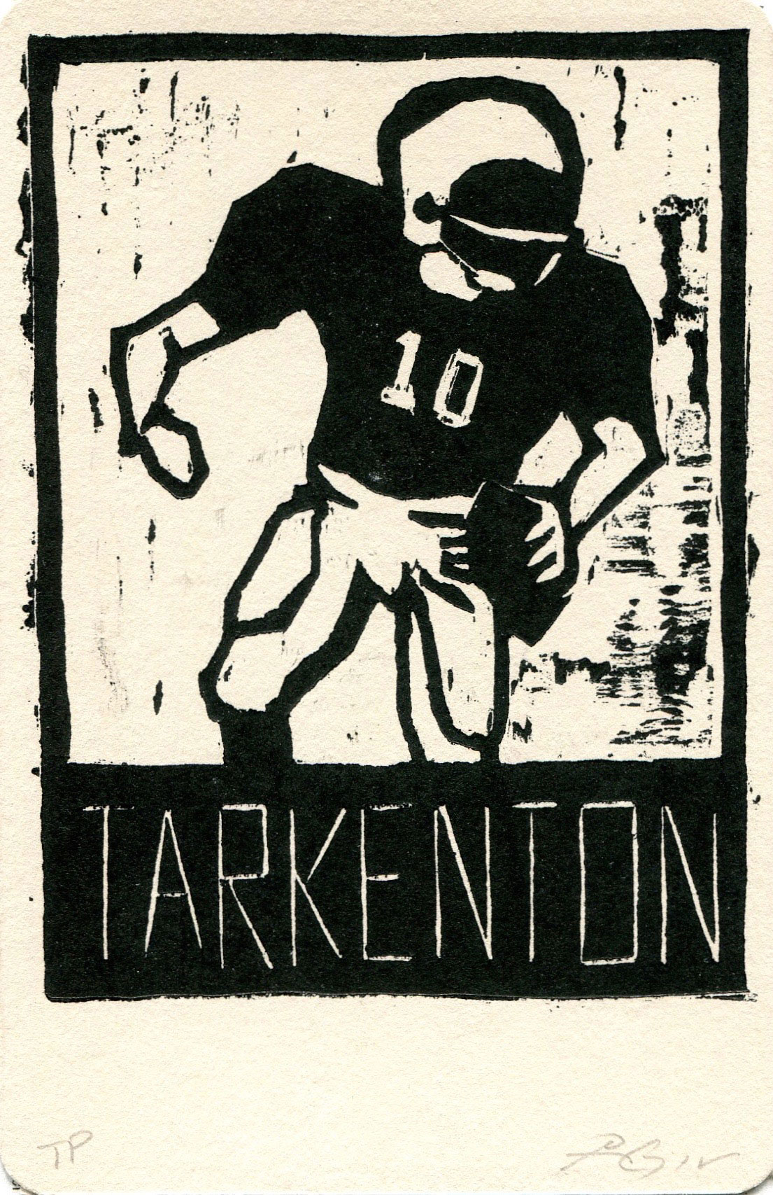 "Tarkenton, Heroes of the Southland 2016, 3.75""x5.75"""