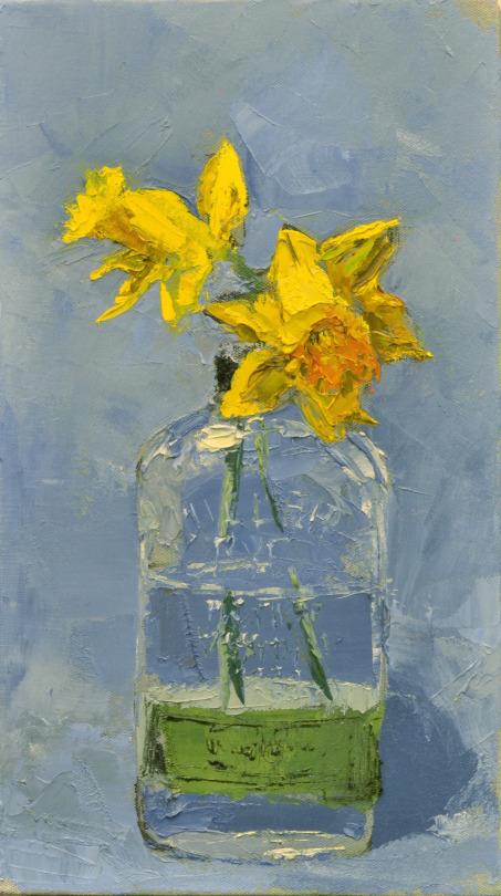 "Daffodils 2016  10""x18"""