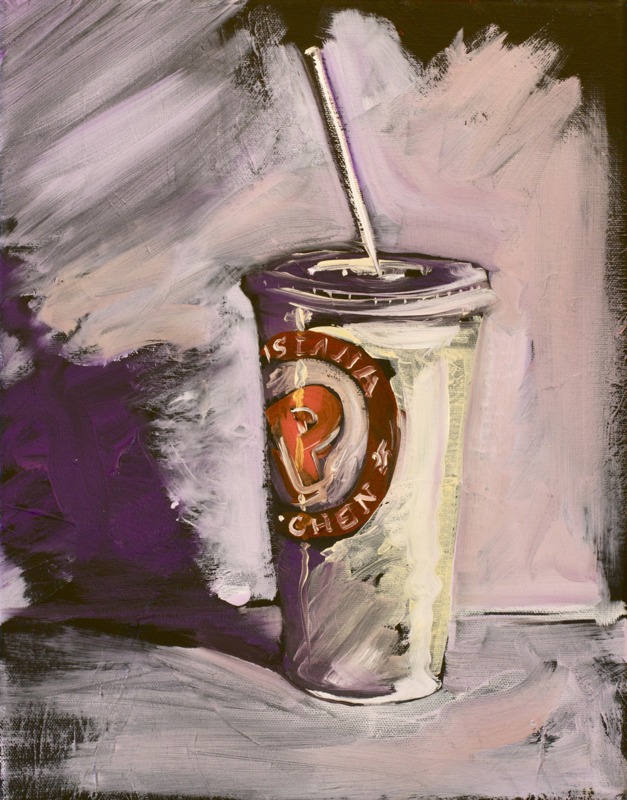 """Popeyes Cup (For Bo) 2013 11""""x14"""""""