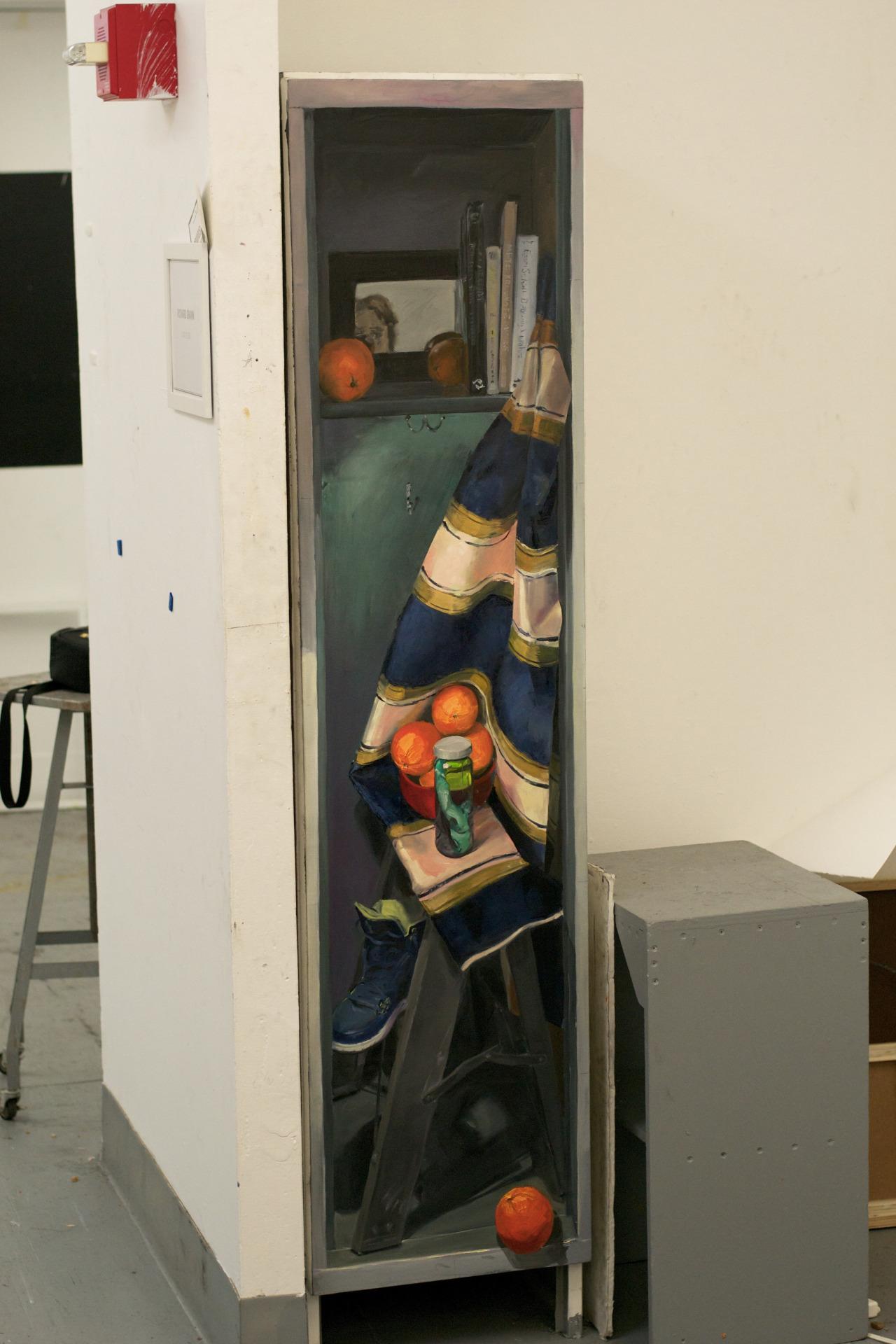 """Locker Still-life 2014 18""""x72"""""""