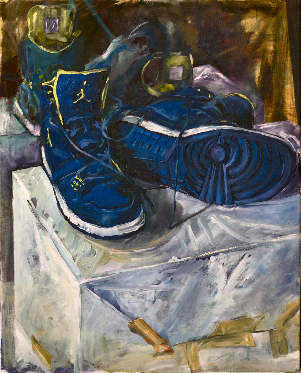 "J's (my shoes) 2013 24""x30"""