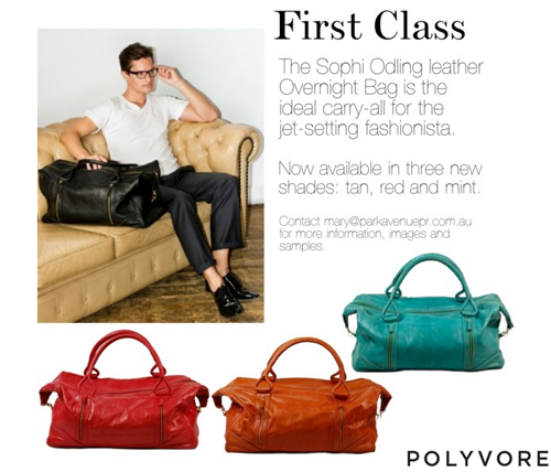 "POLYVORE  ""First Class"" by Mary Tan  Ruben Overnight Bag 