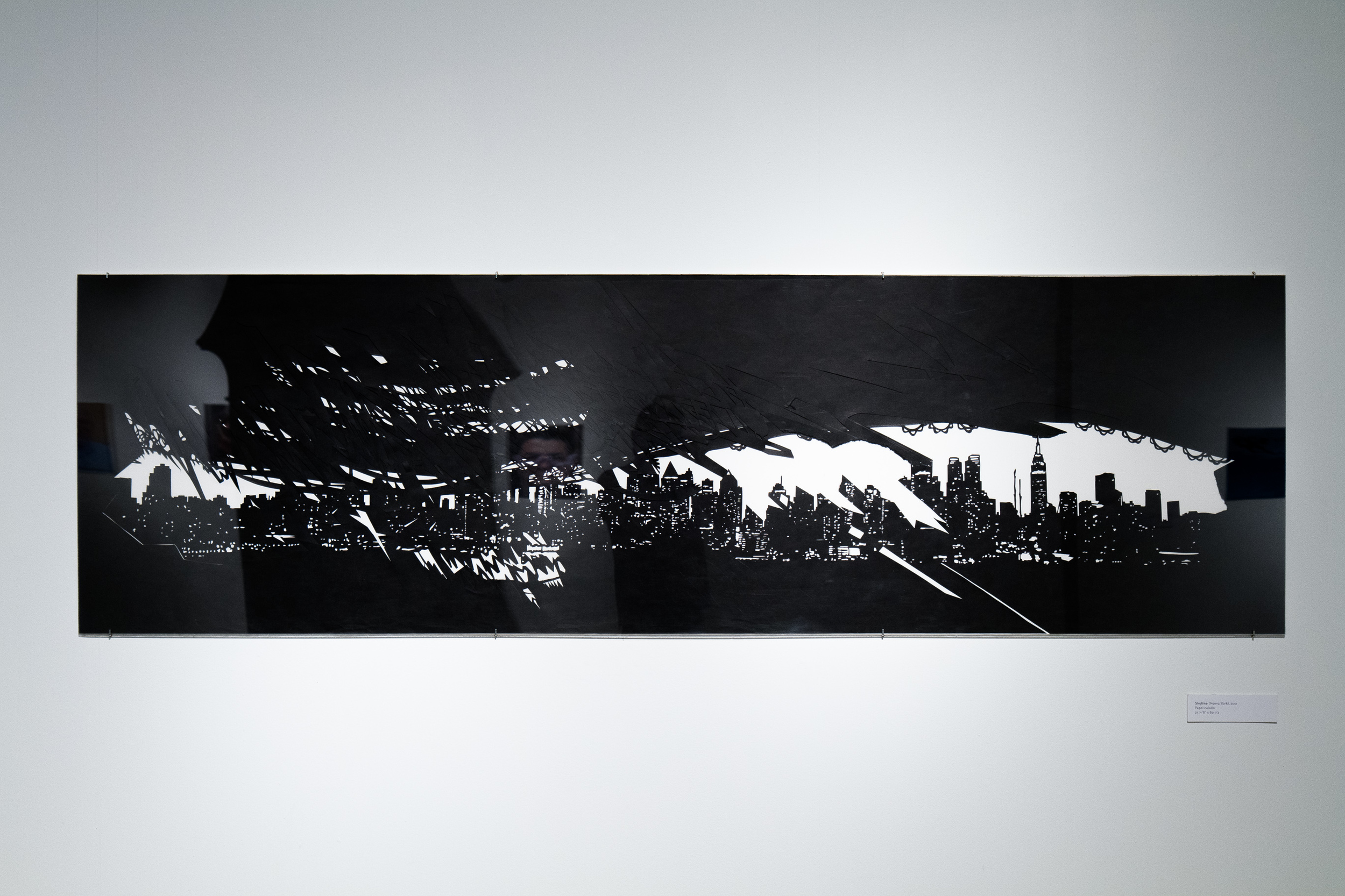 New York (Skyline series)  23.5 in x 80.5 in, collage, cut black Torinoko paper.
