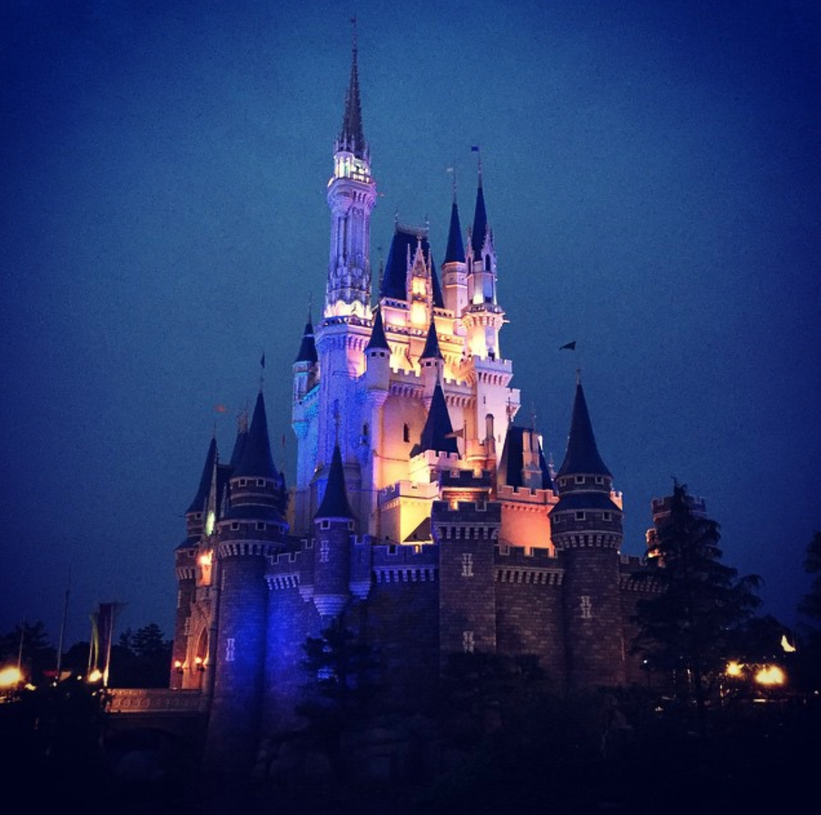 A photo of the Enchanted Castle at Tokyo Disneyland