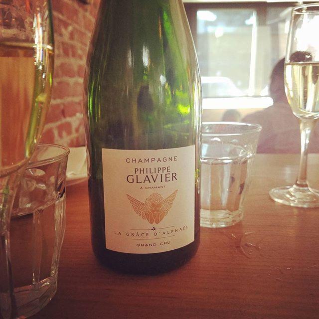Its 5 o'clock and thankfully that somewhere is here  #champagne #philippeglavier #grandcru #passion #chardonnay #granfondowine #blancdeblanc #otown #bootandshoe #granfondowine #putaforkinmeimdone