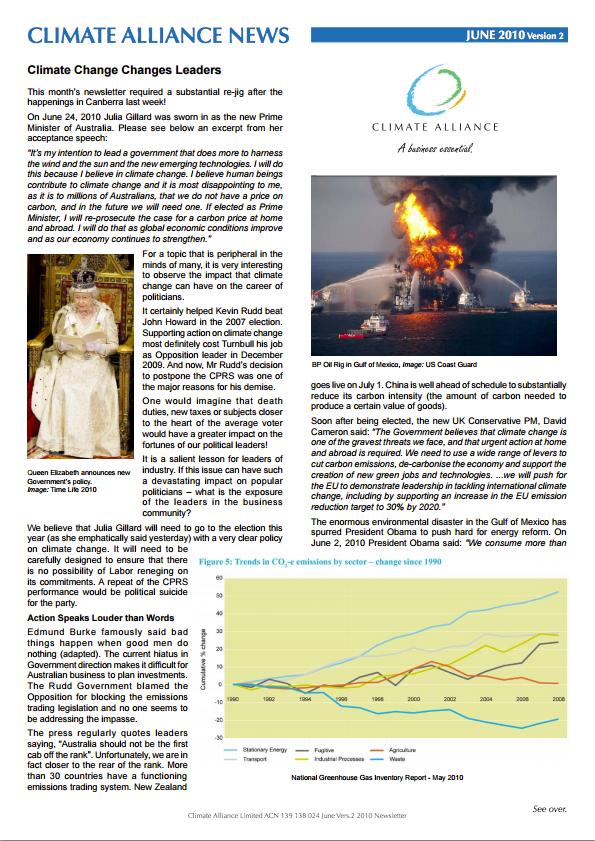 Climate Alliance Newsletter - June 2010