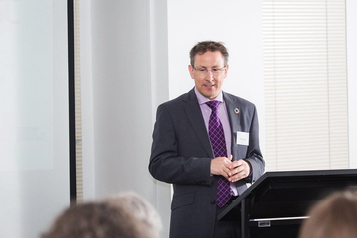 Adrian King, KPMG partner responsible for Sustainability Services,MC and panel moderator