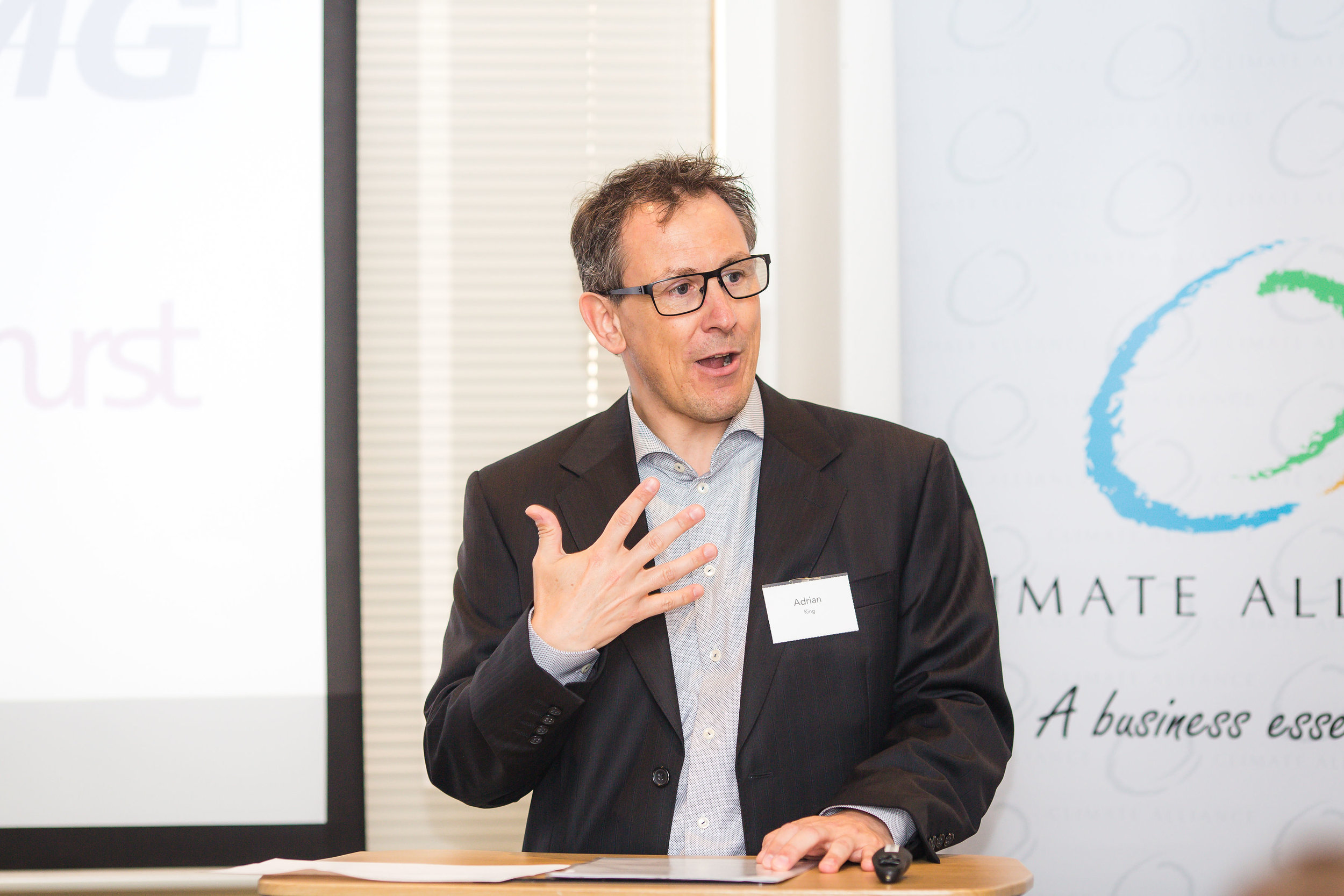 Adrian King, KPMG partner responsible for Sustainability Services, MC and panel moderator
