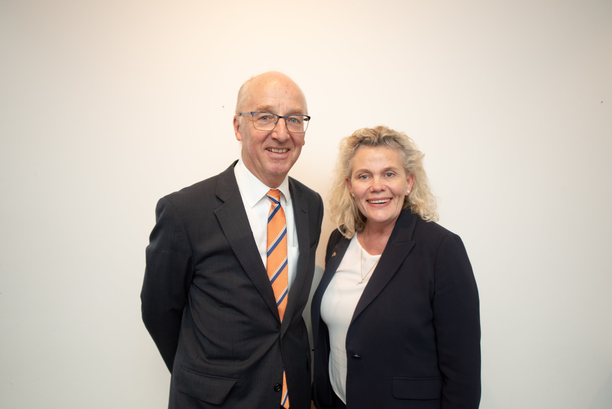 Business Leader of the Year 2018 - Fiona Simson, President of National Farmers' Federation, with Ben Scheltus, CEO Climate Alliance.