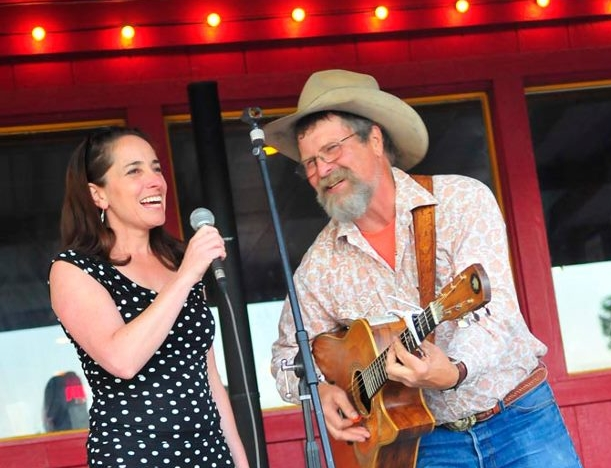 Photo by Eliza Wiley, Lakeside Helena with Sarah Elkins and Bruce Anfinson, Cowboy Poet