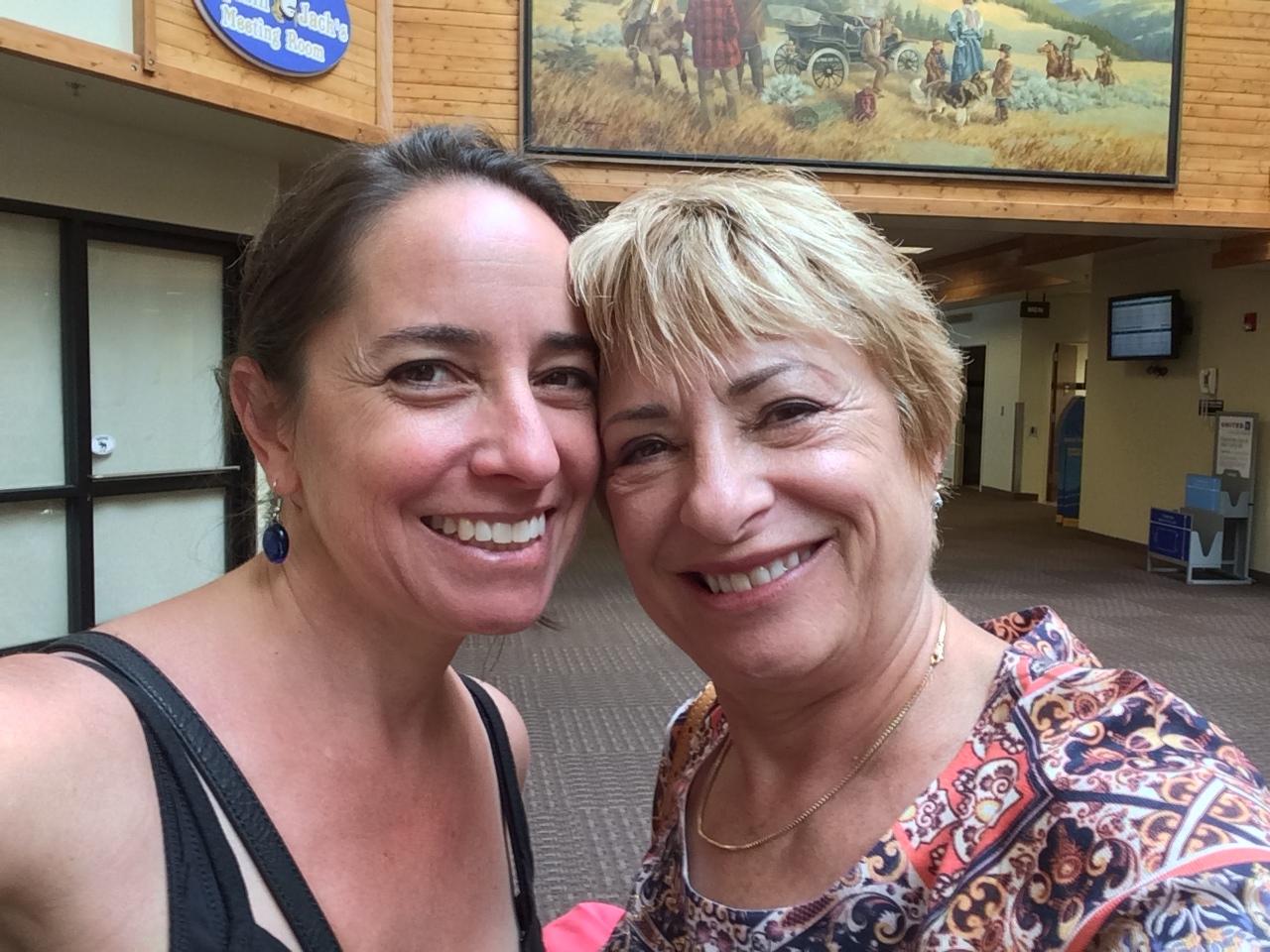 Sarah and Mom, Helena Regional Airport