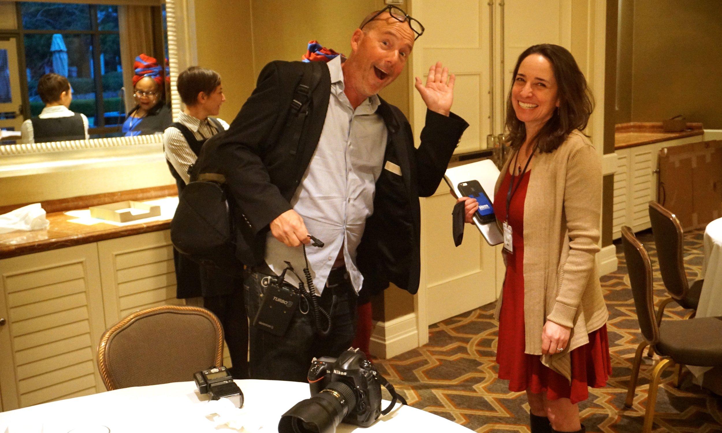 Robert Downs, photographer, chats with Sarah Elkins at #NLVAtlanta2019