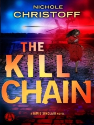 "THE KILL CHAIN  - JAMIE SINCLAIR #6Security specialist and PI Jamie Sinclair shoots for the stars in this breakneck thriller. Her enemies shoot to kill. ""[Nichole Christoff] understands how to keep her readers riveted from beginning to end."" (USA Today) In Jamie Sinclair's line of work, there's no such thing as too careful. Not when clients like Madeline Donahue come knocking on her door. Madeline claims a disgruntled robotics engineer is blackmailing her boss—an eccentric tech billionaire—and holding the computer systems of their satellite and space payload company hostage. With U.S. government secrets at stake, Madeline wants Jamie to protect her as she pays the ransom. But is it really ransom? Or personal payback? The late-night dead drop starts off badly, and gets worse quickly  when Jamie is framed for murder and more. Now, with the U.S. government trying to bring her down—and a team of hired guns aiming to take her out—Jamie is on the run, fighting to force a deadly conspiracy from the shadows. She'll have to move fast to get that target off her back—and to keep those she loves from becoming the weakest link in a powerful enemy's kill chain."