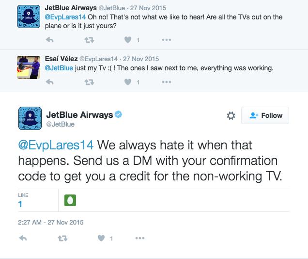 online review response JetBlue2