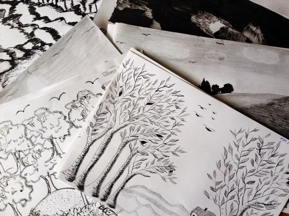 Ink Illustrations