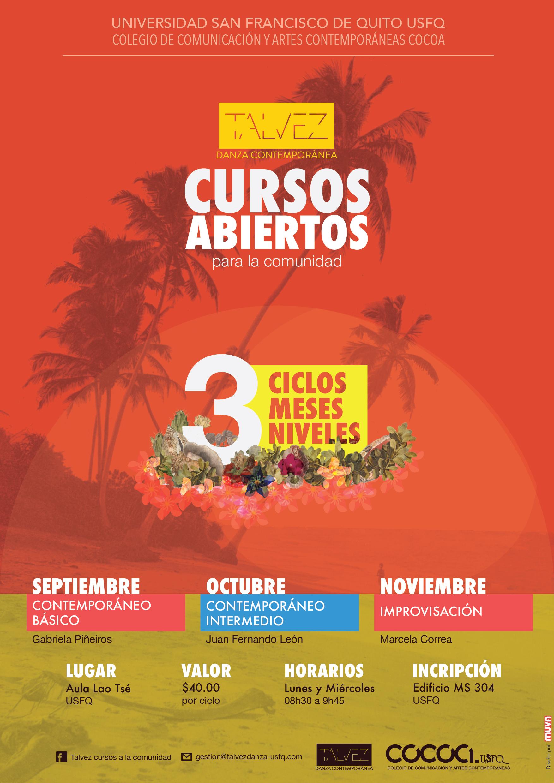 CURSOS ABIERTOS PARA LA COMUNIDAD 2016