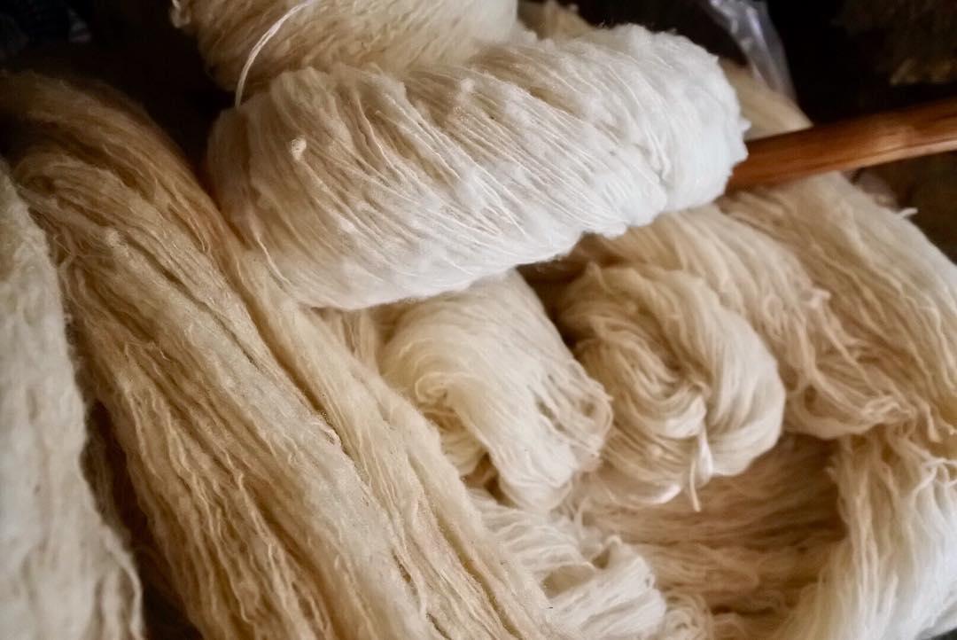 Handmade yarn.