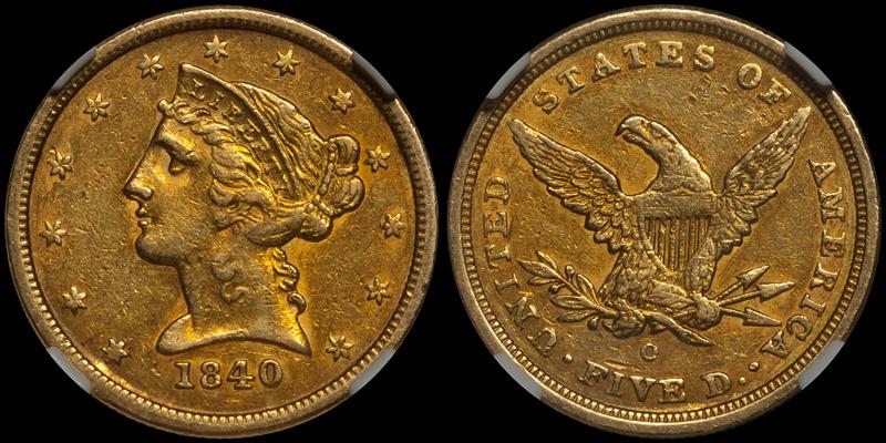 1854-O $3.00 NGC EF45 CAC