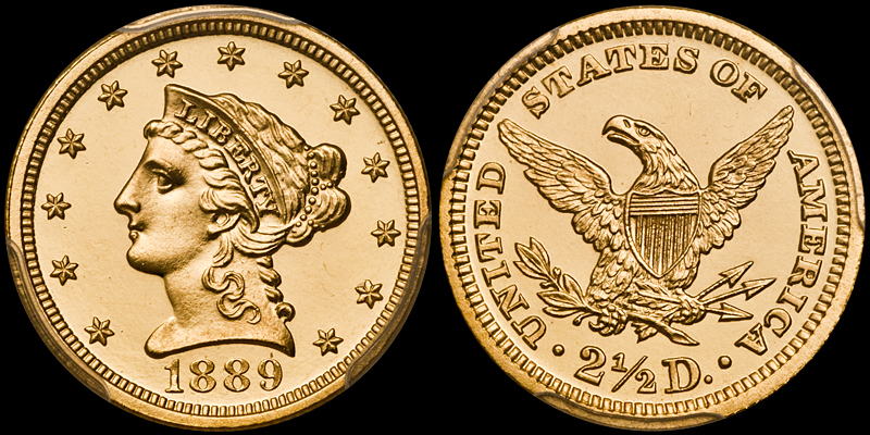 1889 $2.50 PCGS PR65+ Cameo CAC
