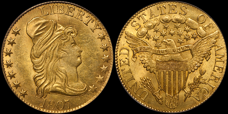 1807 Bust Right $5.00 PCGS MS62