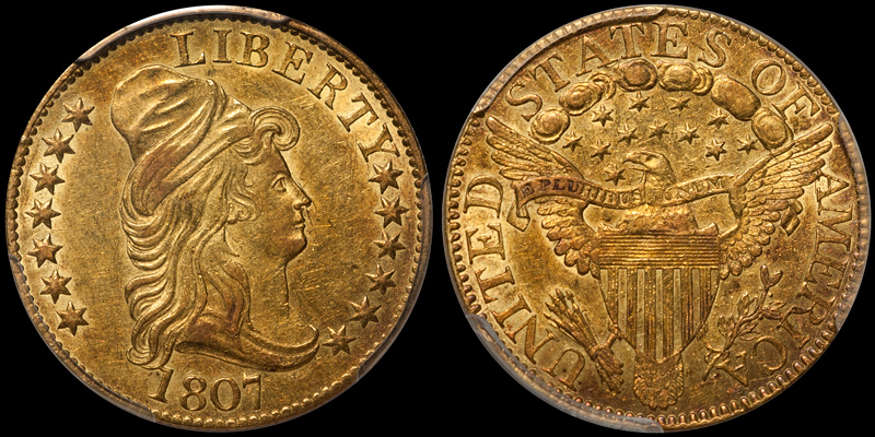1807 Bust Right $5.00 PCGS AU58 CAC