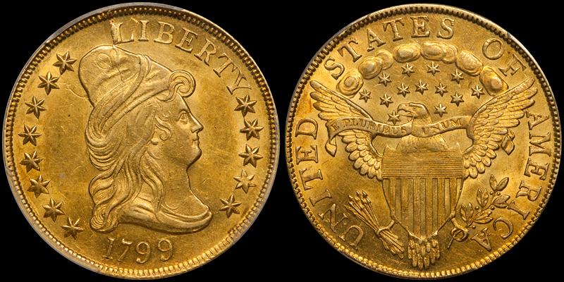 1799 $10.00 PCGS MS61