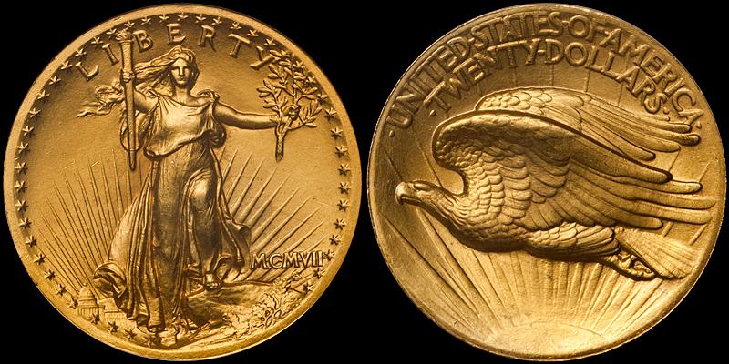 MCMVII (1907) High Relief $20.00 MS66