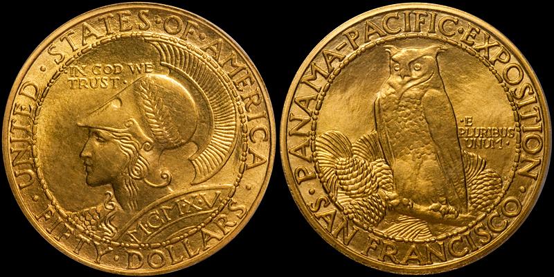 1915-S $50.00 PCGS MS64+