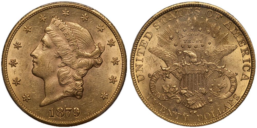1879-CC $20.00 PCGS MS61