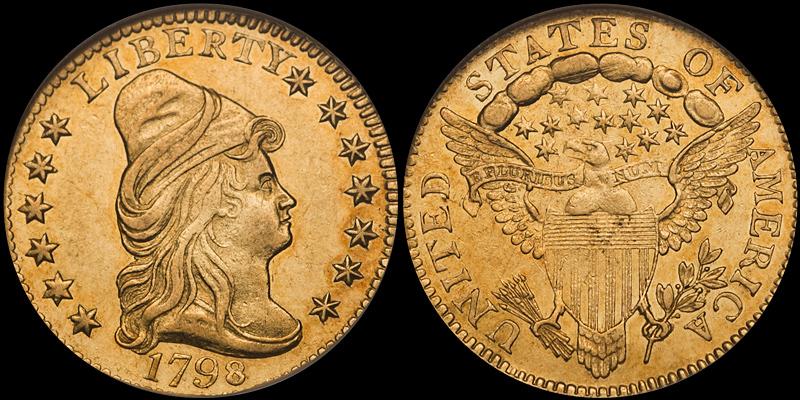 1798 $2.50 PCGS AU58