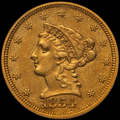 ...Liberty Head Quarter Eagles... - Liberty Head quarter eagles were issued from 1840 from 1907 at the Philadelphia, New Orleans, Charlotte, Dahlonega and San Francisco mints. Including major varieties, there are over 150 different issues which range from very common to very rare.