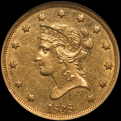 ...No Motto $10.00 Libs... - Liberty Head eagles were struck from 1838 through 1907 and exist in two distinct design types: No Motto (1838-1866) and With Motto (1866-1907). This article is going to focus on the No Motto issues from two perspectives: affordable coins (in this case up to $5,000 or so) and high-budget coins ($7,500 and up).
