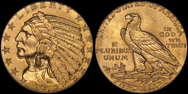 1912 $5.00 PCGS MS65 CAC
