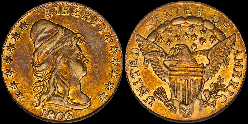 1806/5 7x6 Stars PCGS AU55 CAC