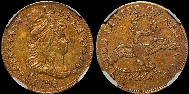 1795 Small Eagle $5.00 NGC AU55+