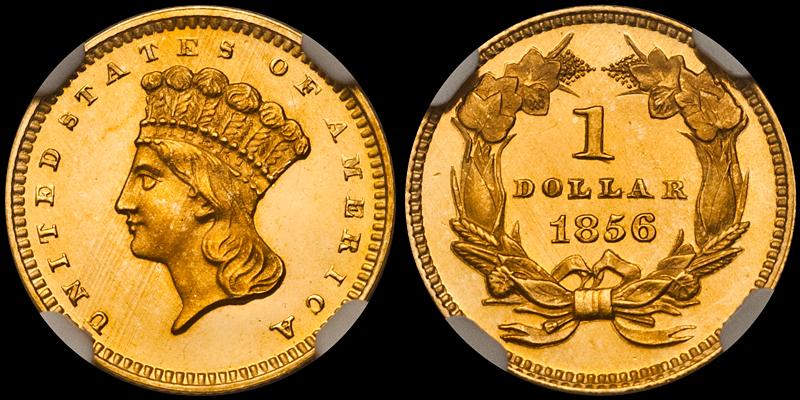 1856 $1.00 NGC PR66★ Ultra Cameo CAC
