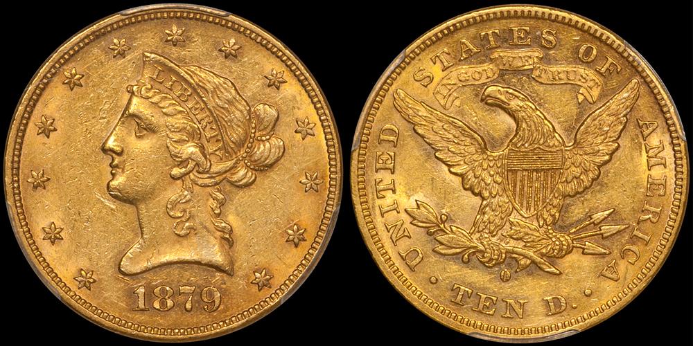 1879-O $10.00 PCGS AU58