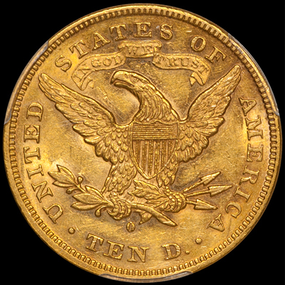 ...With Motto Liberty Head Eagles... - With Motto Liberty Head eagles were made at five different mints from 1866 through 1907: Philadelphia, San Francisco, Carson City, New Orleans, and Denver.